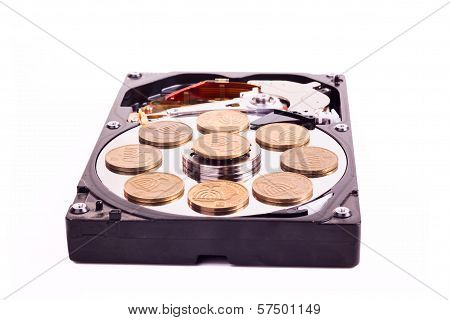 Disk Without Cower Disk With Israeli Coins