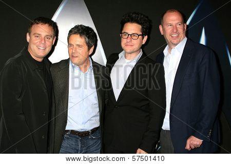 Bryan Burk, Brett Grey, J.J. Abrams and Rob Moore at the
