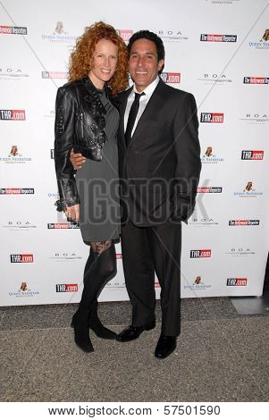 Oscar Nunez and wife at the Hollywood Reporter