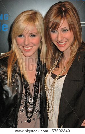 Savvy and Mandy from Radio Disney at the Samsung Behold ll Premiere Launch Party, Blvd. 3, Hollywood, CA. 11-18-09