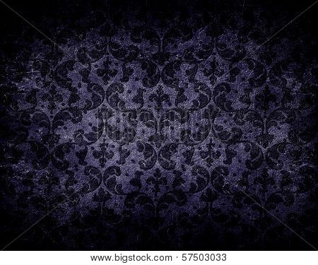 Abstract Stone Background With Floral Pattern
