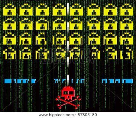 Hacker Attack  8-bit Style