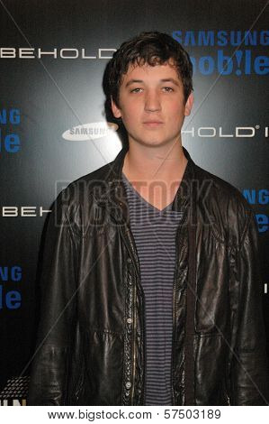 Miles Teller at the Samsung Behold ll Premiere Launch Party, Blvd. 3, Hollywood, CA. 11-18-09