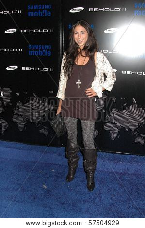 Courtenay Semel at the Samsung Behold ll Premiere Launch Party, Blvd. 3, Hollywood, CA. 11-18-09
