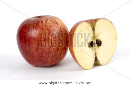 Whole Apple And Cut