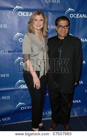 Arianna Huffington and Deepak Chopra  at the 2009 Oceana Annual Partners Award Gala, Private Residence, Los Angeles, CA. 11-20-09
