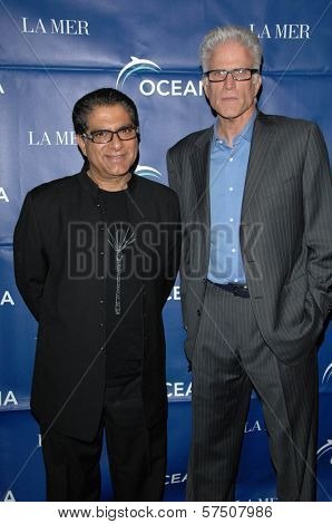 Deepak Chopra and Ted Danson  at the 2009 Oceana Annual Partners Award Gala, Private Residence, Los Angeles, CA. 11-20-09
