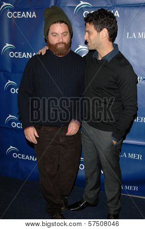 Zach Galifianakis and Justin Bartha  at the 2009 Oceana Annual Partners Award Gala, Private Residence, Los Angeles, CA. 11-20-09