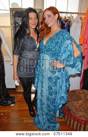 Designer Tal Sheyn and Phoebe Price at Tal Sheyn Studios preparing for the American Music Awards, Tal Sheyn Studios, Hollywood, CA. 11-22-09