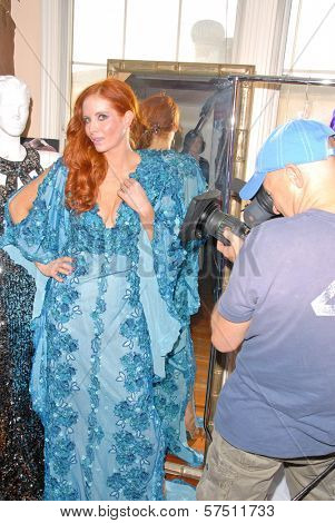 Phoebe Price wearing designs by Tal Sheyn at Tal Sheyn Studios preparing for the American Music Awards, Tal Sheyn Studios, Hollywood, CA. 11-22-09