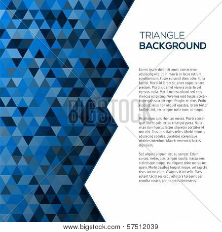 Geometric blue background with tirangles