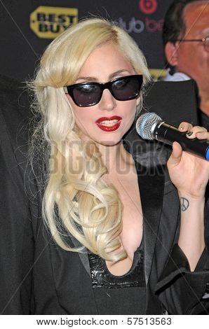 Lady Gaga at a signing for the CD