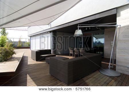 contemporary loft - terrace