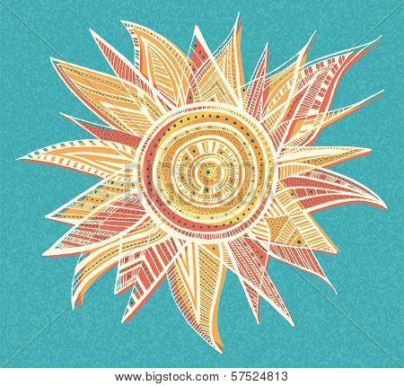 Ornament sun illustration