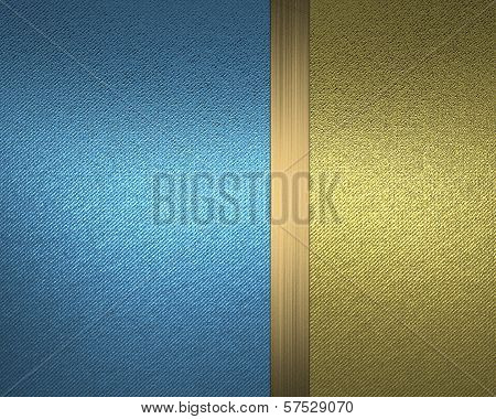 Design template - Blue background with gold nameplate