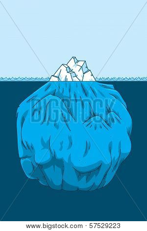 Cartoon Iceberg Cross-section