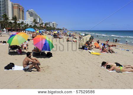Spring Break Beach People