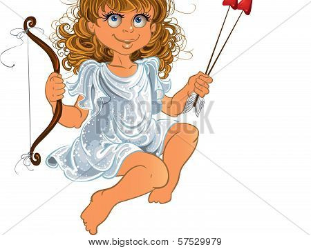 Fun Cupid With Onion And Arrow