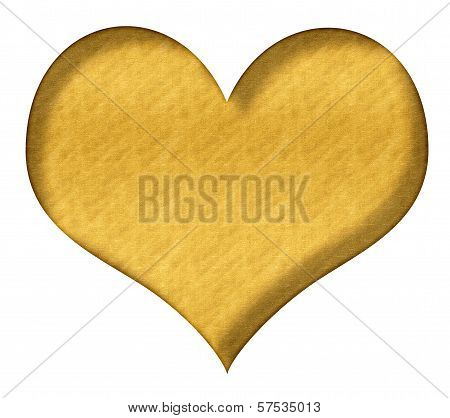 Valentine Heart Gold