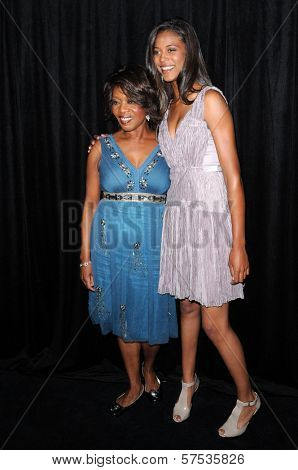 Alfre Woodard and Mavis Spencer at the 9th Annual Awards Season Diamond Fashion Show Preview, Beverly Hills Hotel, Beverly Hills, CA. 01-14-10