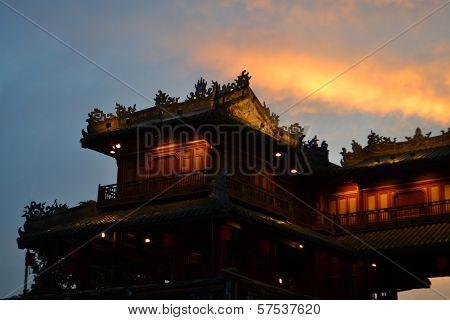 Ancient Forbidden City In Hue, Vietnam