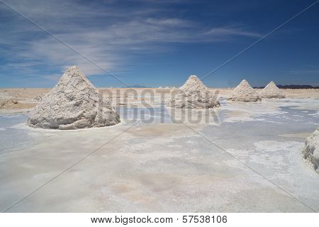 Heap Of Sea Salt In Salar Uyuni