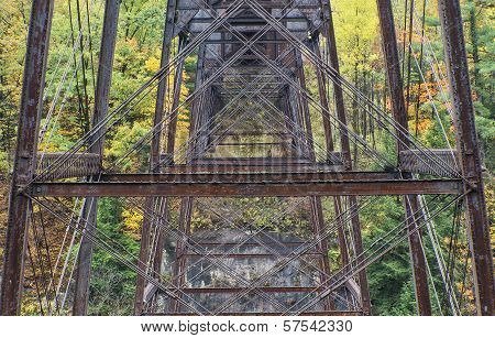 Raildroad Trestle At Letchworth State Park