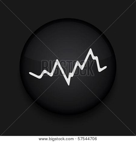 Vector app circle stock black icon. Eps10