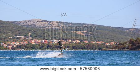 Cable Ski In The Punat Sea, Croatia