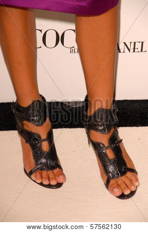 Anna Burman's shoes at the 'Coco Before Chanel' Premiere Party. Chanel, Beverly Hills, CA. 09-09-09