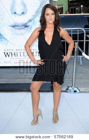Lacey Scwhimmer at the Los Angeles Premiere of 'Whiteout'. Mann Village Theatre, Westwood, CA. 09-09-09