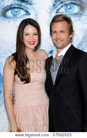 Jacinda Barrett and Gabriel Macht  at the Los Angeles Premiere of 'Whiteout'. Mann Village Theatre, Westwood, CA. 09-09-09
