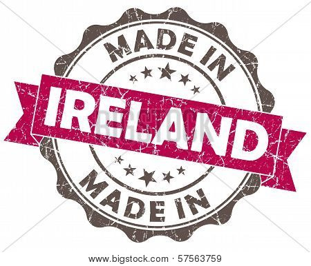 Made In Ireland Pink Grunge Seal