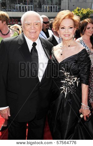 Tova Borgnine and Ernest Borgnine  at the 61st Annual Primetime Creative Arts Emmy Awards. Nokia Theatre, Los Angeles, CA. 09-12-09
