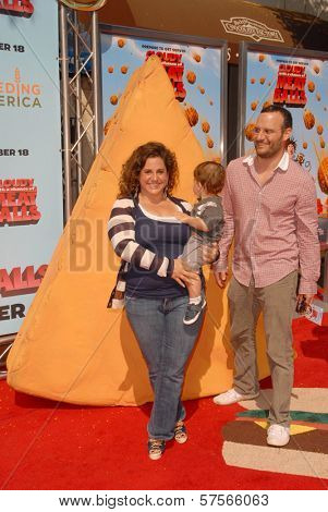 Marissa Jaret Winokur with Judah Miller and their son Zev at the Los Angeles Premiere of 'Cloudy With A Chance of Meatballs'. Mann Village Theatre, Westwood, CA. 09-12-09