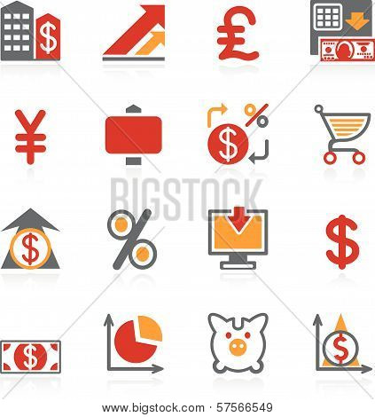 Finance icons. Color series.