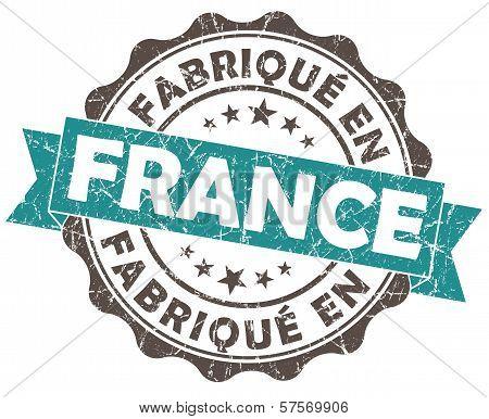Fabrique En France Blue Grunge Seal