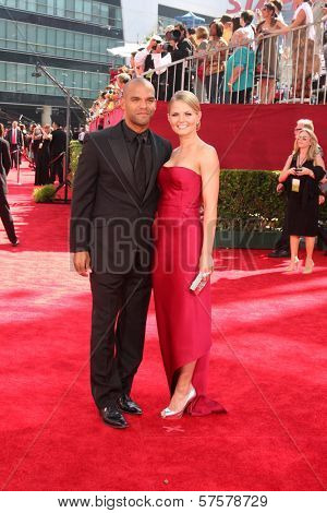 Amaury Nolasco and Jennifer Morrison  at the 61st Annual Primetime Emmy Awards. Nokia Theatre, Los Angeles, CA. 09-20-09