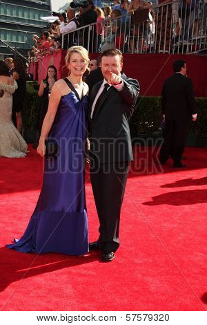 Ricky Gervais at the 61st Annual Primetime Emmy Awards. Nokia Theatre, Los Angeles, CA. 09-20-09