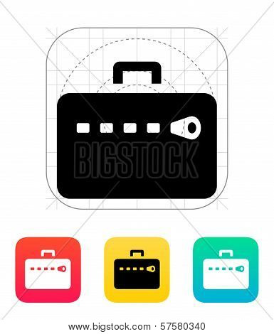 Zipper case icon.