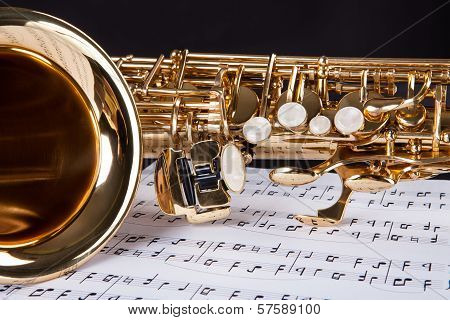 Trumpet And Musical Note