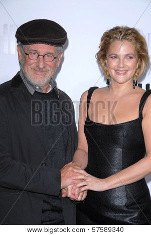 Steven Spielberg and Drew Barrymore at the Los Angeles Premiere of 'Whip It'. Grauman's Chinese Theatre, Hollywood, CA. 09-29-09