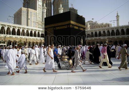 People Walking Around The Ka'aba