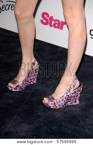 Audrey Kitching's shoes at the Star Magazine 5th Anniversary Party. Bardot Hollywood, Hollywood, CA. 10-13-09