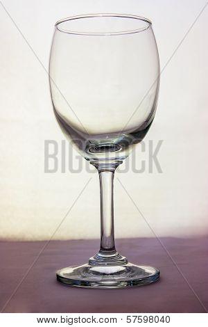 Empty Wine Glass.