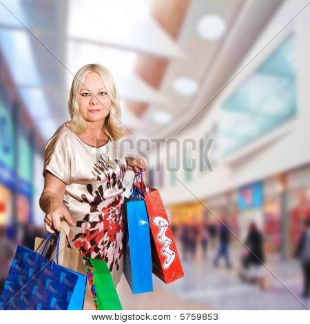 50 years old woman shopping