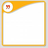 stock photo of quotation mark  - yellow frame for text with quotation mark - JPG