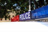 pic of emergency light  - Sign of a Police Car in Tasmania - JPG