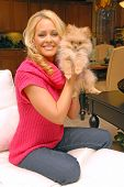 Katie Lohmann photo shoot for Purebred Breeders with ner new dog  Cody, Private Location, Brentwood,