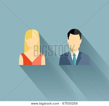 Male and female icons